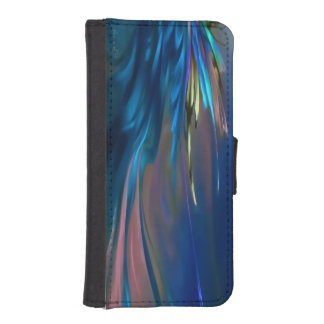 Abstract wing in blue Feathery iPhone SE/5/5s Wallet Case