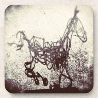 Abstract Wire Horse Art Coaster