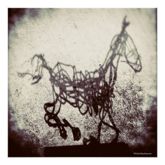 Abstract Wire Horse Art Poster