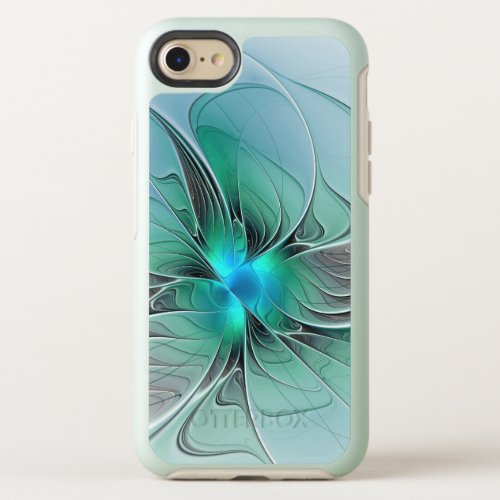 Abstract With Blue, Modern Fractal Art Phone Case
