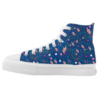 Abstract with butterflies High-Top sneakers