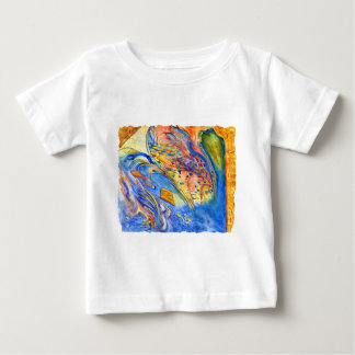 Abstract with Fish Against the Stream Baby T-Shirt