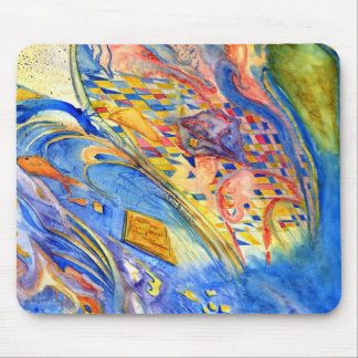 Abstract with Fish Against the Stream Mouse Pad
