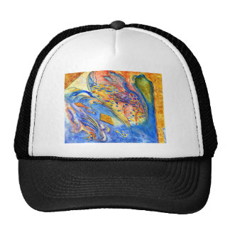 Abstract with Fish Against the Stream Trucker Hat