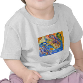 Abstract with Fish Against the Stream Tee Shirt
