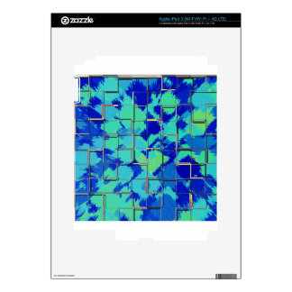 Abstract with Squares - Blue iPad 3 Decals