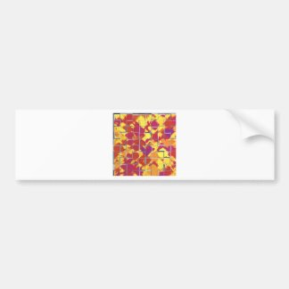 Abstract with Squares - Red Bumper Sticker