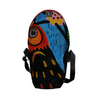 abstract with the bird's eye courier bag