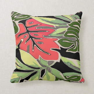 Abstract With Tropical Ivy Throw Pillow