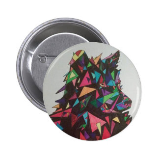 Abstract Wolf #2 Button