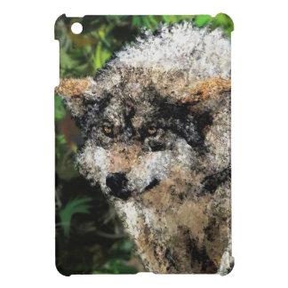 Abstract wolf painting iPad mini case