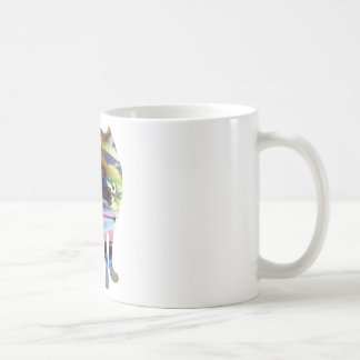Abstract Wolf silhouette Coffee Mug