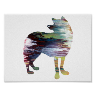 Abstract Wolf silhouette Poster