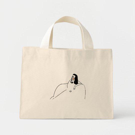 Abstract Woman Sofa Mini Tote Bag