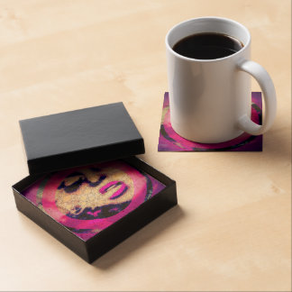 Abstract Woman W/ Attitude Art Beverage Coaster