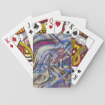 Abstract woman's face Art Playing Cards
