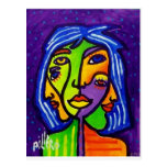 Abstract Women J 3 by Piliero Postcard