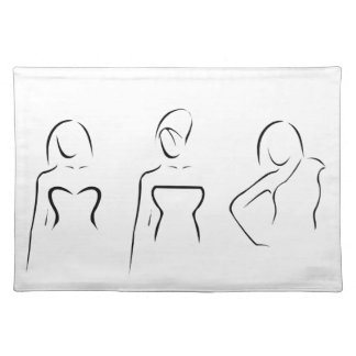 Abstract women with beautiful necklines placemat