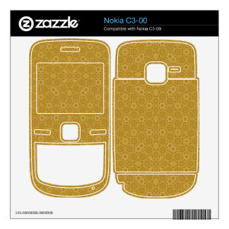 abstract wood colored skin for the nokia c3-00