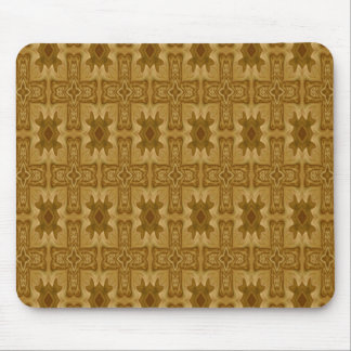 Abstract wood cross pattern mouse pad