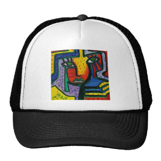 Abstract Wood painting Trucker Hat
