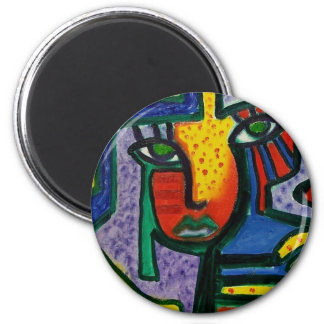Abstract Wood painting Magnet