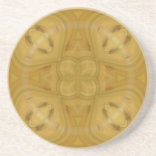 Abstract wood pattern coaster