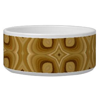 Abstract wood pattern pet bowl