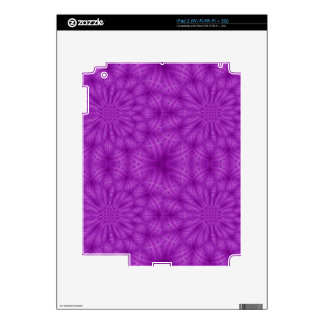 Abstract wood pattern purple color iPad 2 skin
