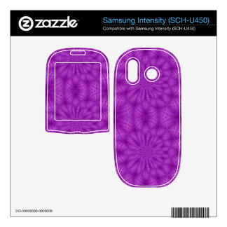 Abstract wood pattern purple color samsung intensity II skin