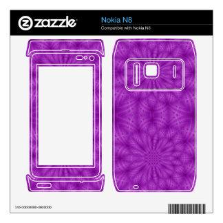 Abstract wood pattern purple color nokia n8 skins