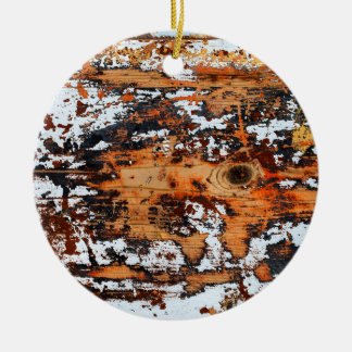Abstract wooden background. ceramic ornament