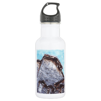 Abstract Wooden Building 18oz Water Bottle
