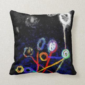 Abstract Wool Fiber Art Fantasy Felted Throw Pillows