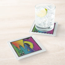 Abstract Word of Woman Glass Coaster