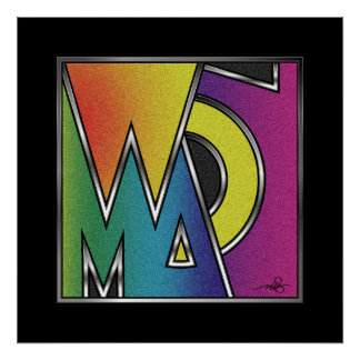 Abstract Word of Woman Poster