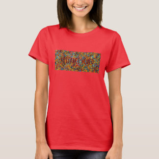 Abstract World Red Ladies T-Shirt