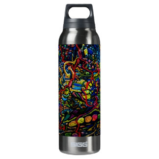 Abstract Worlds Delicate Balance Insulated Water Bottle