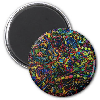 Abstract Worlds Delicate Balance Magnet
