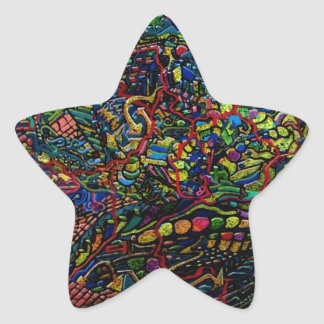 Abstract Worlds Delicate Balance Star Sticker