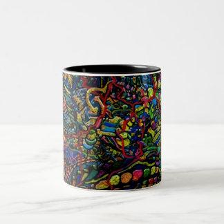 Abstract Worlds Delicate Balance Two-Tone Coffee Mug
