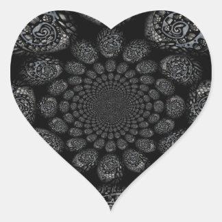 Abstract Worlds Distorted Spiral Heart Sticker