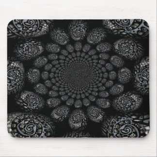 Abstract Worlds Distorted Spiral Mouse Pad
