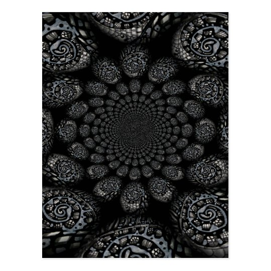 Abstract Worlds Distorted Spiral Postcard