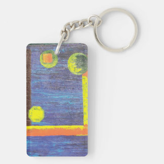Abstract Worlds Double-Sided Rectangular Acrylic Keychain