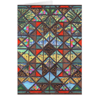 Abstract Worlds Greeting Card