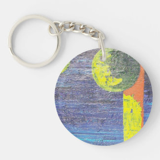 Abstract Worlds Round Acrylic Keychains