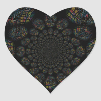 Abstract Worlds Manipulation Five Heart Sticker