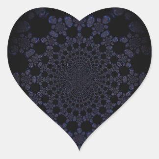 Abstract Worlds Manipulation Four Heart Sticker
