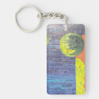 Abstract Worlds Single-Sided Rectangular Acrylic Keychain